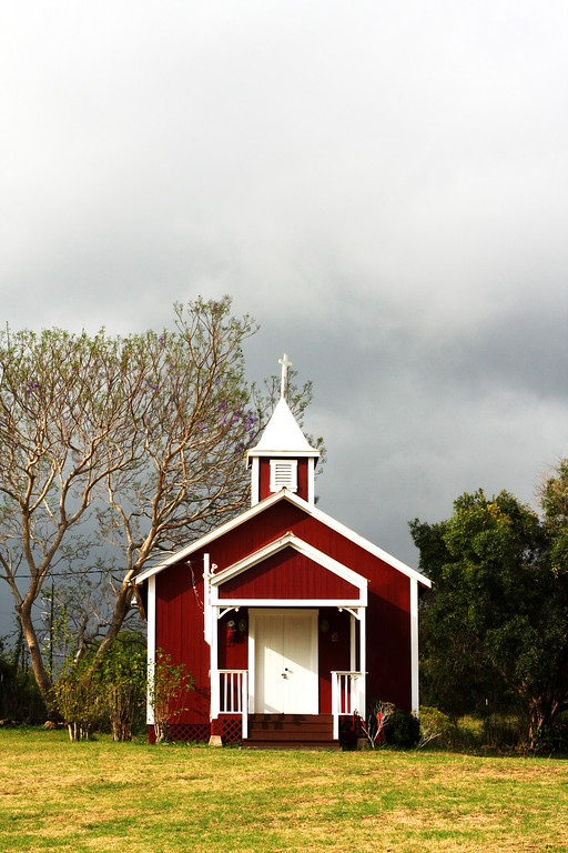 A little red church I stumbled on.