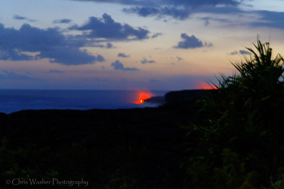 Lava flow on the big island of Hawaii.