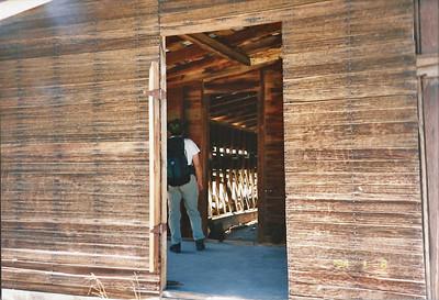 7/27/97 Historic Barn. Big Morongo Canyon Preserve Little San Bernardino Mtns, Morongo Valley, San Bernardino County, CA.