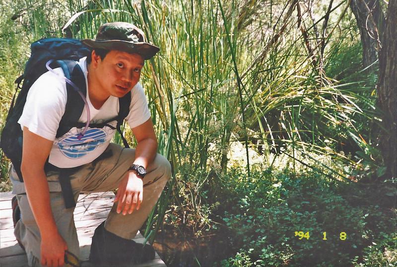 7/27/97 Willow Trail. Big Morongo Canyon Preserve Little San Bernardino Mtns, Morongo Valley, San Bernardino County, CA.