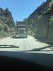 We headed out of camp and up to Bishop to get bread at Schat's Bakery. Then we drove up to the Ancient Bristlecone Pine Forest. There was this one short section of one lane road and we managed to come head on with a semi truck. We backed down the road!