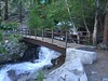 This is the small bridge over the North Fork of the Big Pine Creek and at the bottom of First Falls.