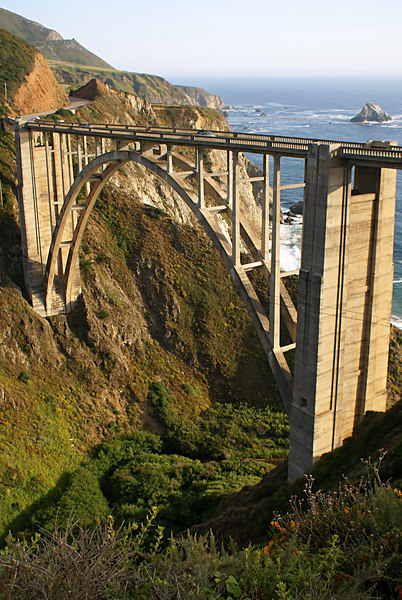 Bixby bridge over Pacific Coastal Highway