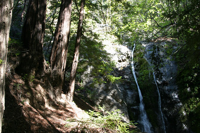 A waterfall in Big Sur State Park.