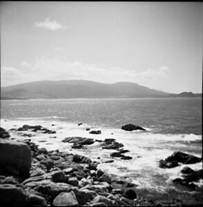 The view from San Simeon Beach, 1960
