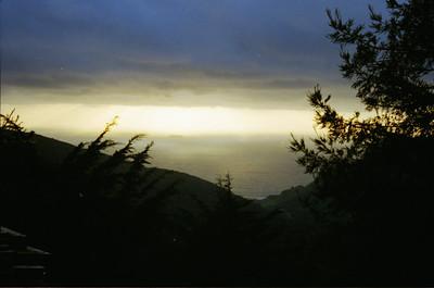 Palo Colorado Canyon sunset