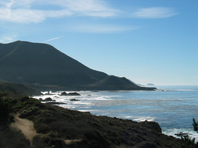 View south from Mal Paso to Point Sur