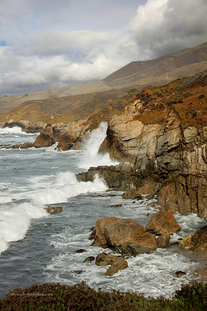 Crashing wave, on the way to Big Sur from Carmel.