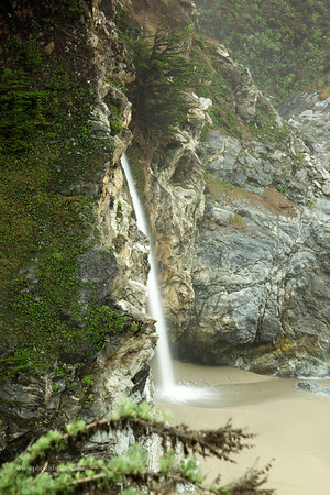 Close up of the waterfall, McWay Falls, Julia Pfeiffer Burns State Beach, Big Sur.