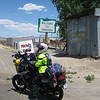 At the Oregon border in Ft. Mcdermitt, between Winnemucca and Boise.  It was hot.