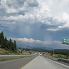 Beautiful skies in Truckee, CA, with virga.  It was nearly 95 degrees at 7K feet.