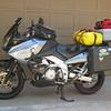 "Nothing says ""Road Trip!"" like an overloaded bike!"