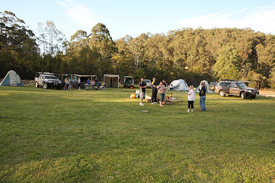 Campsite in Yengo NP. has the place to ourselves thanks to being behind the locked gate.