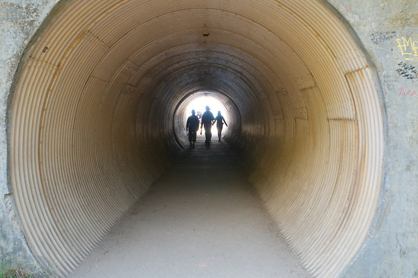 After our decent we did a little side trip through a tunnel under highway 1