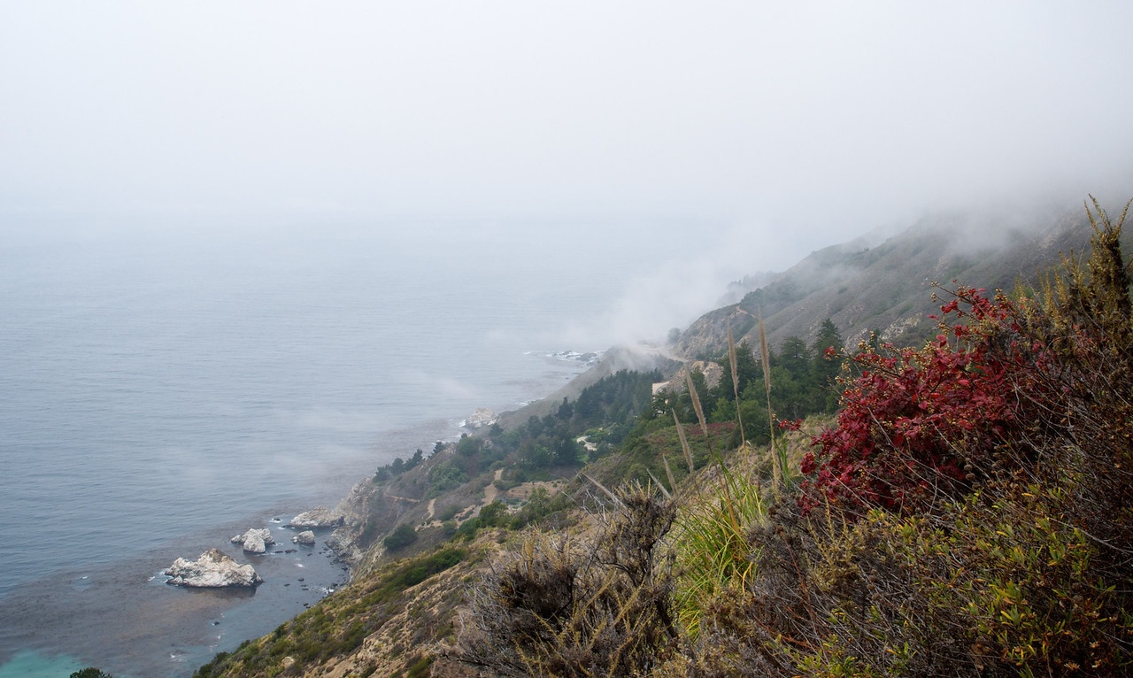 Our first view of the ocean at the ridge on our hike