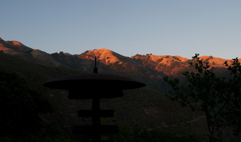 Views from Nepenthe.  I loved the twilight hitting the tops of the mountains.