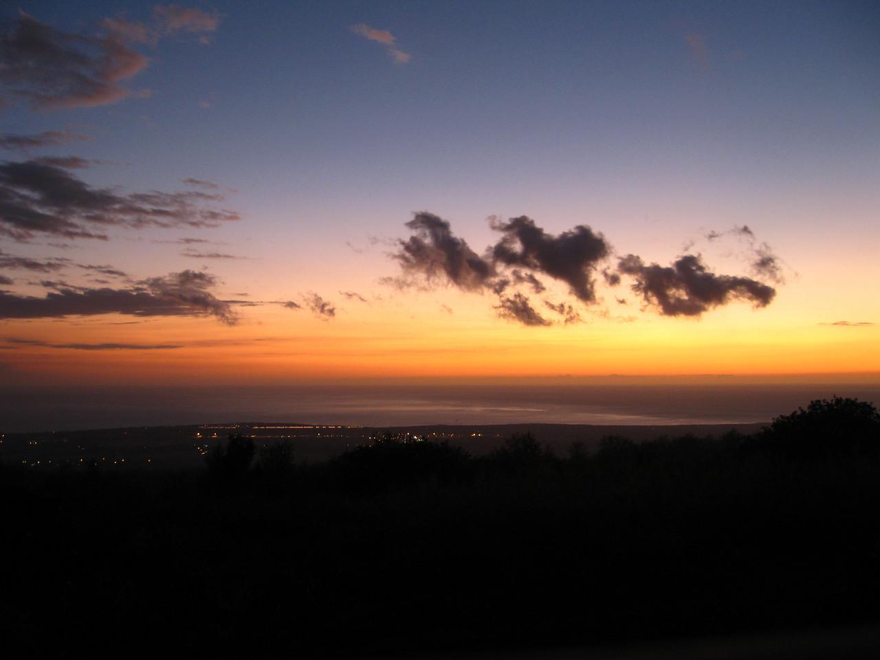 Sunset from Kara & Matthew's house.