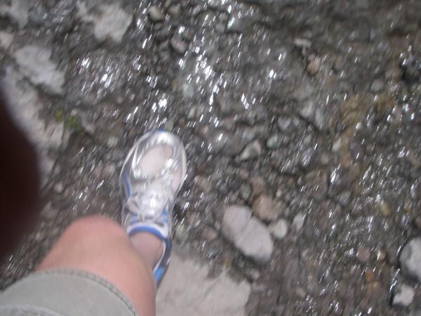 not exactly proper footwear :P