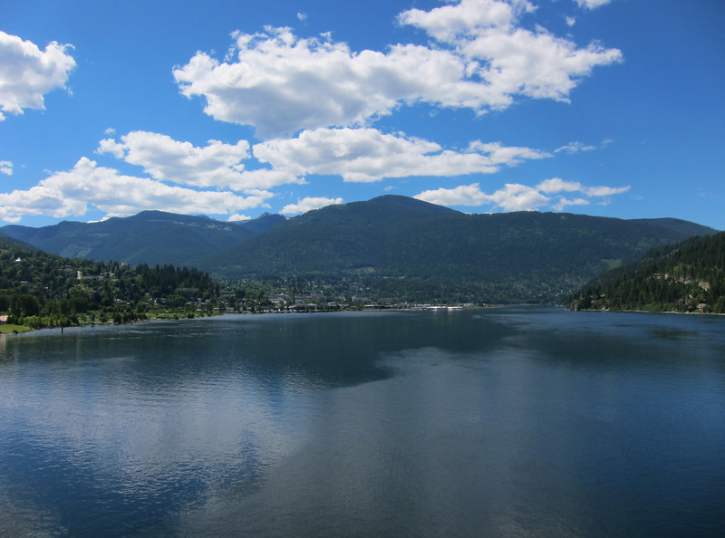 On Wednesday we rode from Kaslo south to Nelson, then back to Salmo. This is a bridge leading to Nelson.