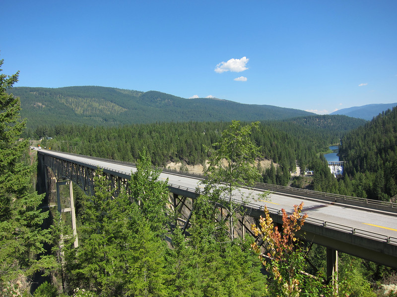 The bridge on US 2 over the Moyie River in Idaho.