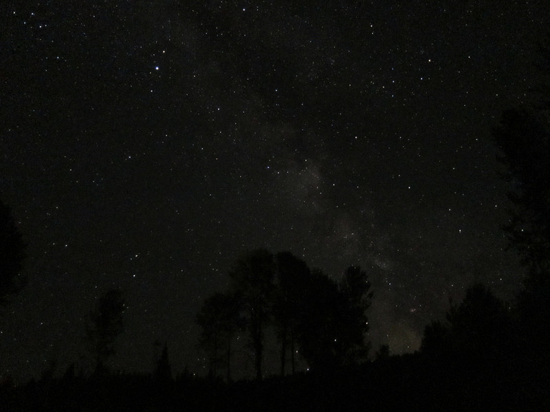 We stayed at the Yaak River Lodge. I got up after midnight to take more pictures of the Milky Way.