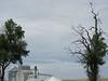 A hawk overlooking a grain elevator in Winona.