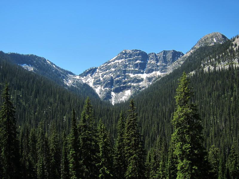A mountain near Kootenai Pass.
