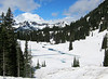 Mt. Rainier and Tipsoo Lake, near the summit of Chinook Pass.