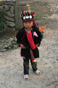 Amazingly, this is just everyday wear in northwest Vietnam. As we biked through I could notice different tribal groups based on their different (crazily colored) dress.