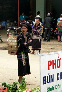 The morning market is a fascinating place to watch the social interactions - and traditional dress - among the different ethnic groups of the hill areas in Vietnam.