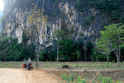 Sad to leave the cliffs for more flat roads in southern Laos.