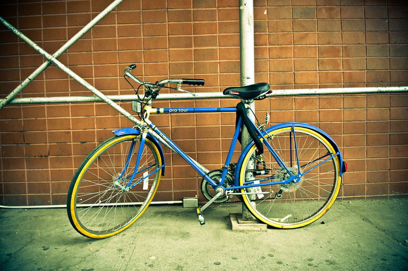 Blue Bicycle, NYC, September.