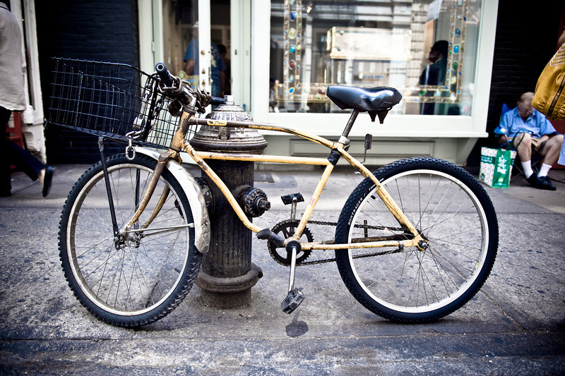 Yellow Bicycle, NYC, September.