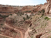 View of Shafer Trail's switchbacks.