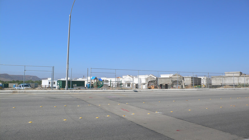 A new school they are building. South side of it.