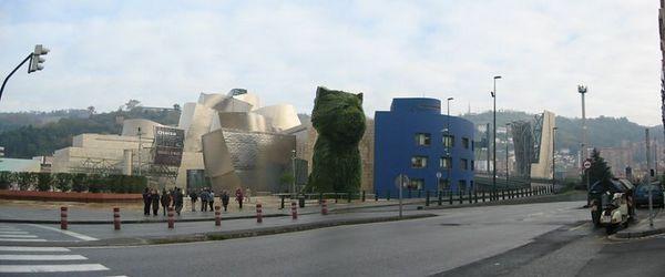 The Guggenheim Bilbao, its famous Scotty