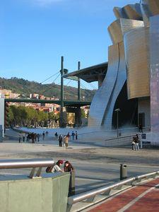 Guggenheim from the newest pedestrian bridge