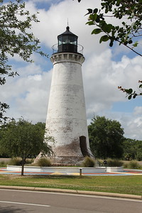 Round Island Light House moved from original location to the base of the Pascagoula, MS bridge for the purpose of preservation and public interest.