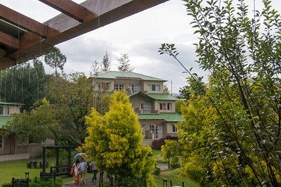 Lovely rains at Club Mahindra Binsar Valley Resort in the Kumaon Himalayan range. Binsar offers a breathtaking view of the snowy mountain ranges of Panchchuli, Shivling, Chaukhamba, Trishul and Nanda Devi.