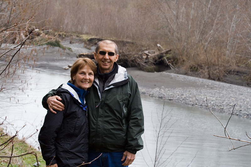 John and Sue by the Hoh River...