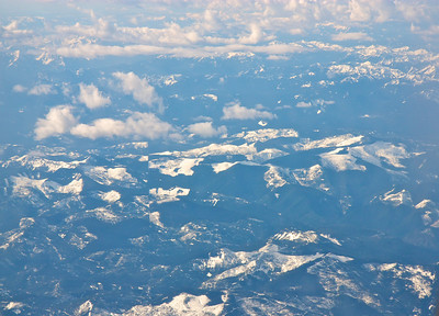 Flying over trhe Pacific Norhwest
