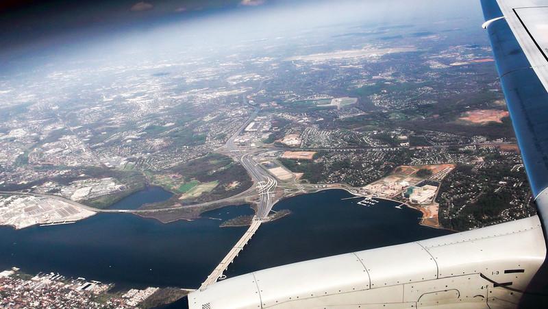 The Wilson Bridge and National Harbor on the Potomac