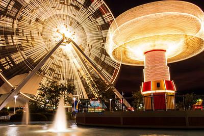 Ferris Wheel and Tilt-a-Whirl