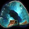 Satellite photo shows the ancient ridge of a sunken volcano.