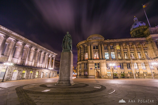 Birmingham Museum & Art Gallery and Town Hall at night