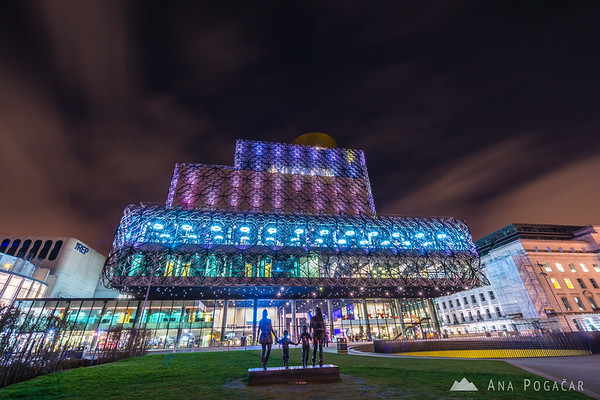 The Library of Birmingham at night