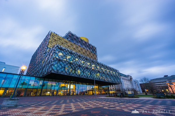 The Library of Birmingham at dusk