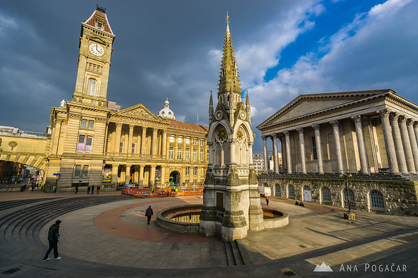 Chamberlain Square with Birmingham Museum & Art Gallery and Town Hall