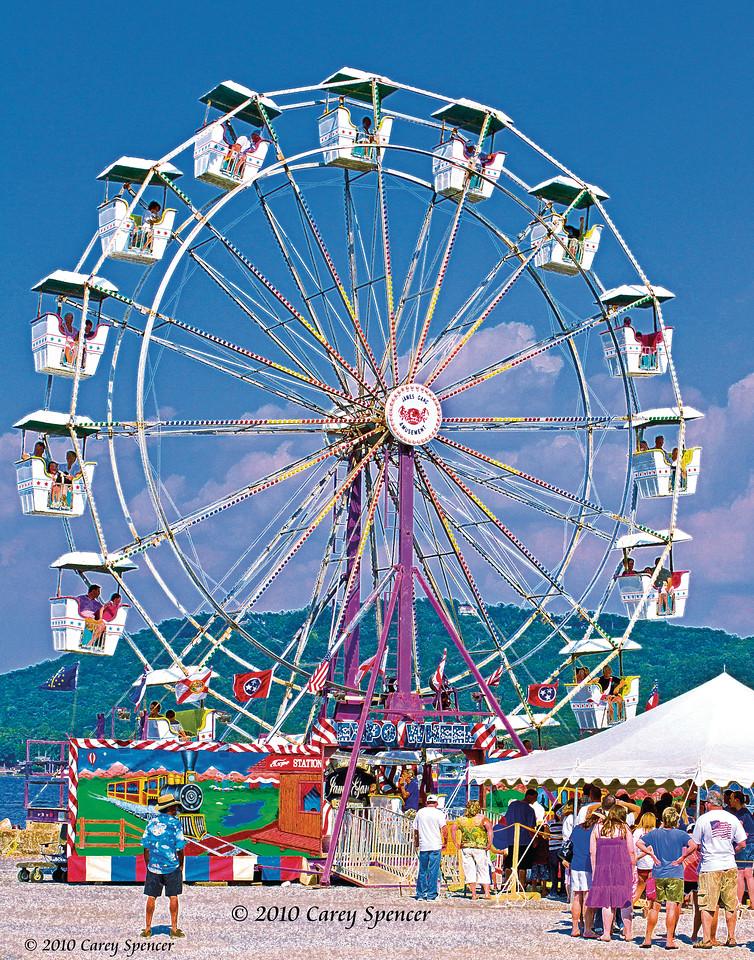 Ferris wheel Lake Guntersville, Alabama July 4, 2010