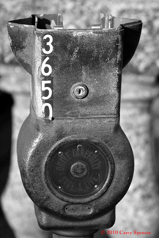 Black and White Photograph Topless Meter Birmingham, Alabama